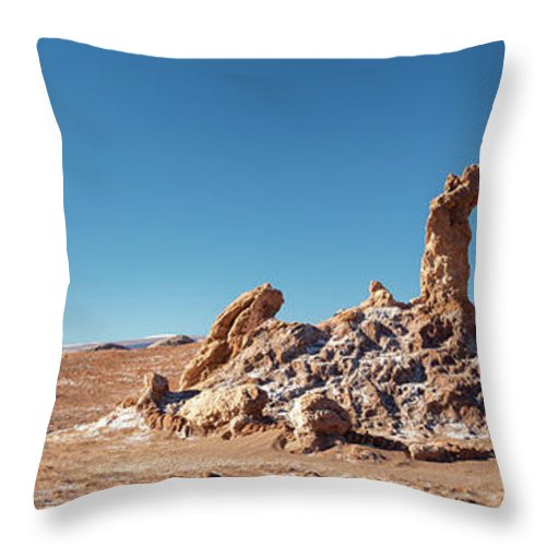 Atacama Throw Pillow featuring the photograph Las Tres Marias Atacama Desert by Delphimages Photo Creations