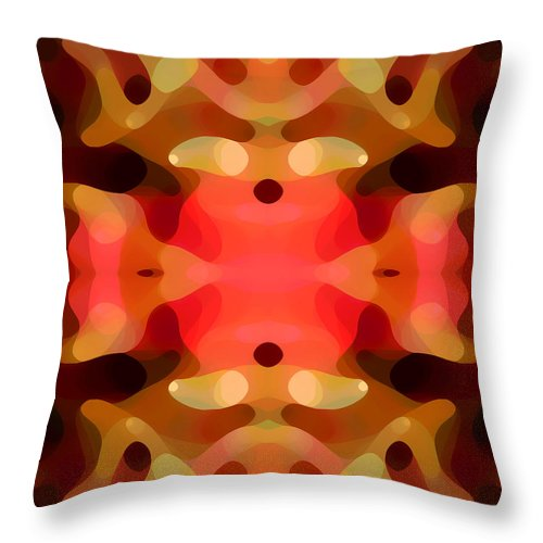 Abstract Painting Throw Pillow featuring the digital art Las Tunas Abstract Pattern by Amy Vangsgard