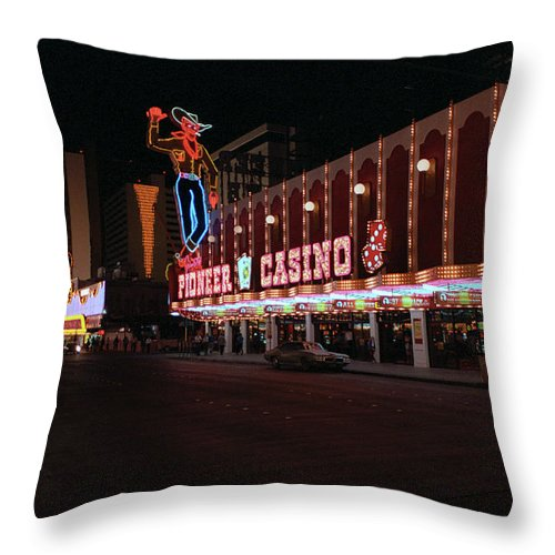 Art Throw Pillow featuring the photograph Las Vegas 1983 #5 by Frank Romeo