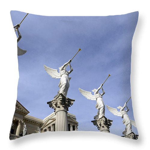 Las Vegas Throw Pillow featuring the photograph Las Vegas Angels by Bob Christopher
