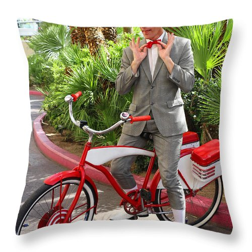 Pee Wee Throw Pillow featuring the photograph Las Vegas Pee Wee by Iryna Goodall