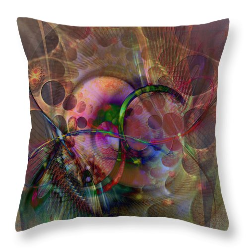 Lash Out Throw Pillow featuring the digital art Lash Out by John Beck