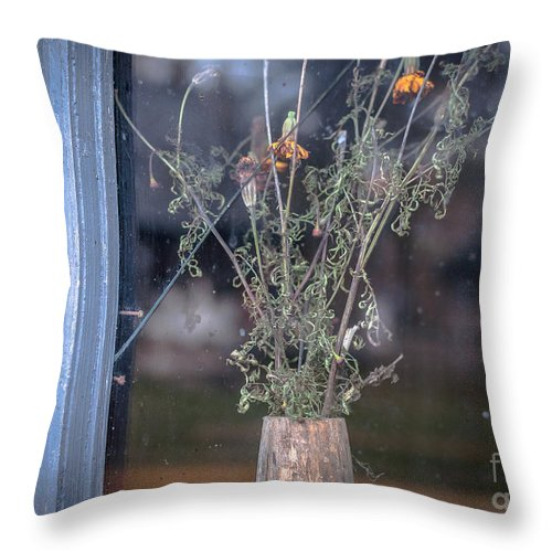 Still Throw Pillow featuring the photograph Last Bouquet by Lyudmila Prokopenko