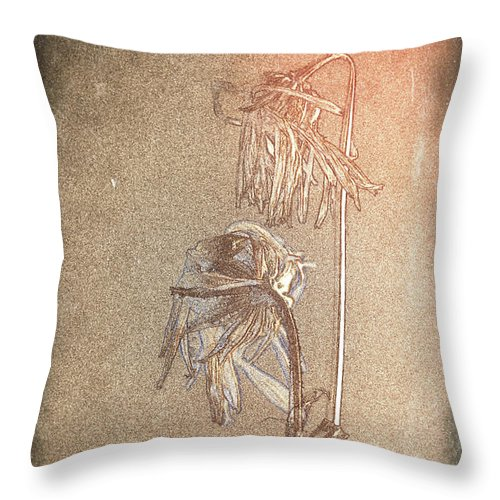 Flower Throw Pillow featuring the digital art Last Dance by Leena Hahtola