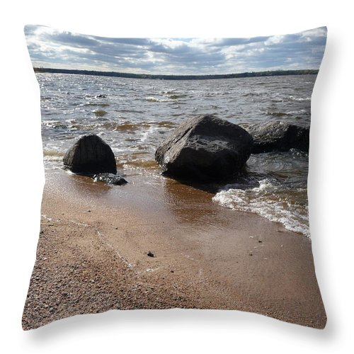Beach Throw Pillow featuring the photograph Last Days Of Summer by Ruth Kamenev