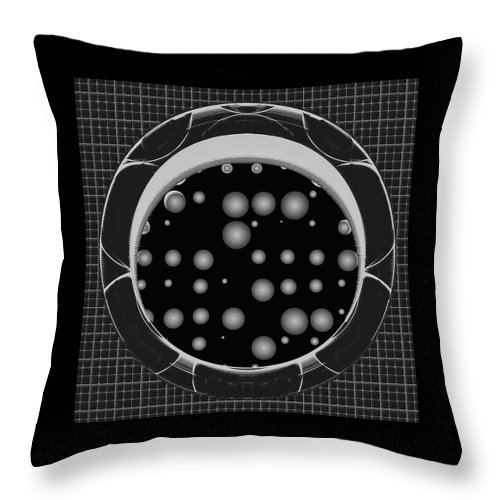 Abstract Throw Pillow featuring the digital art Last Dream On The Left by Wendy J St Christopher