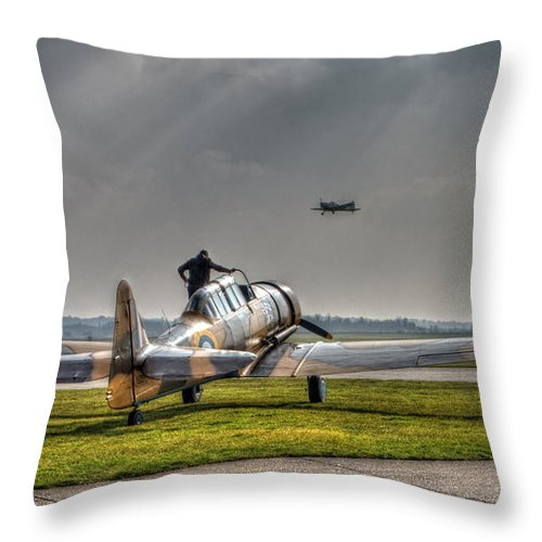 Plane Throw Pillow featuring the digital art Last Flight by Nigel Bangert