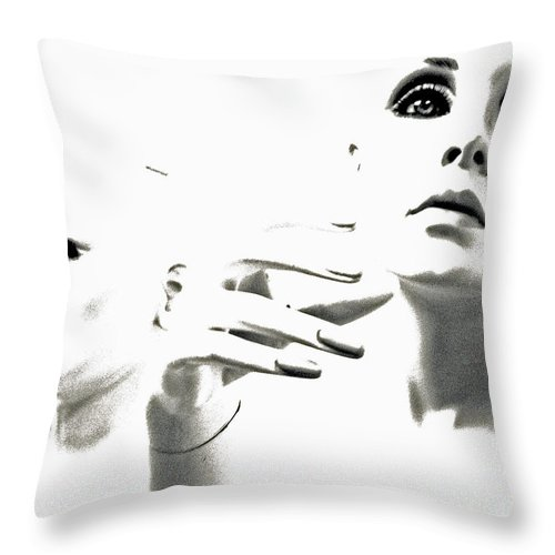 Mannequin Throw Pillow featuring the photograph Last Glance Back by Joe Jake Pratt