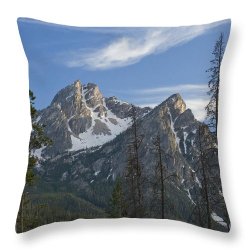 Majestic Throw Pillow featuring the photograph Last Light On Mcgowan by Idaho Scenic Images Linda Lantzy