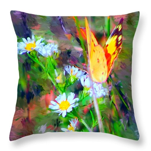 Landscape Throw Pillow featuring the painting Last Of The Season by David Lane