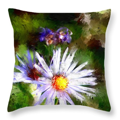 Flower Throw Pillow featuring the photograph Last Rose Of Summer by David Lane