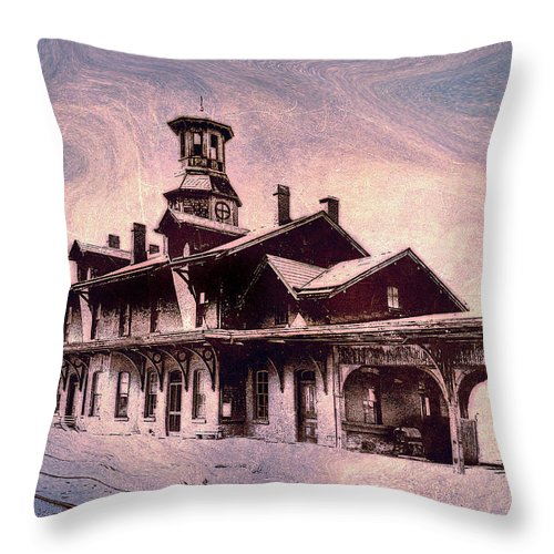 Consciousness Throw Pillow featuring the photograph Last Stop Blues... by Arthur Miller