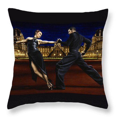 Tango Throw Pillow featuring the painting Last Tango in Paris by Richard Young