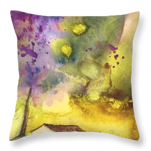 Watercolour Throw Pillow featuring the painting Late Afternoon 13 by Miki De Goodaboom