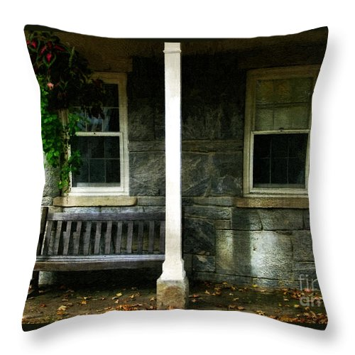 Autumn Throw Pillow featuring the painting Late Afternoon In Autumn by RC DeWinter