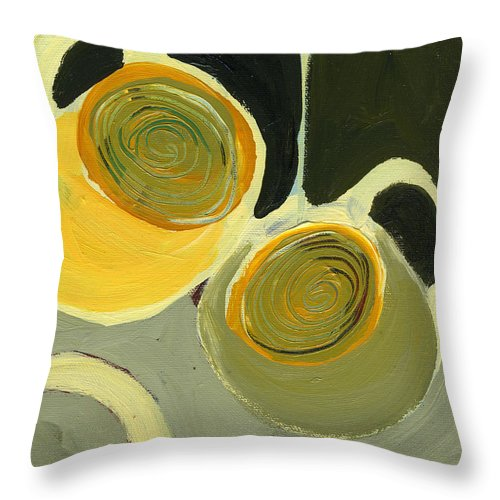 Coffee Throw Pillow featuring the painting Late Night Friends by Jennifer Lommers