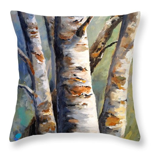 Landscape Throw Pillow featuring the painting Late November by Alan Lakin