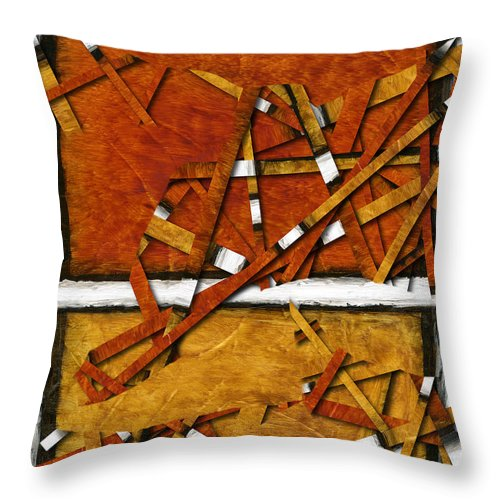 Abstract Throw Pillow featuring the painting Later In The Morning Abstract by Karla Beatty