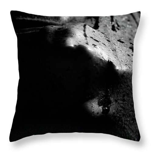 Nude Throw Pillow featuring the photograph Latex Alien by Pavel Jelinek