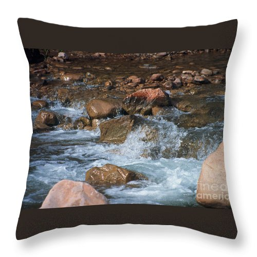 Creek Throw Pillow featuring the photograph Laughing Water by Kathy McClure