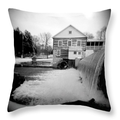 Photograph Throw Pillow featuring the photograph Laughlin Mill by Jean Macaluso