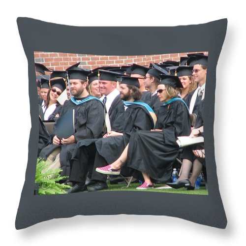 Graduation Throw Pillow featuring the photograph Laura's Graduation by Kelly Mezzapelle