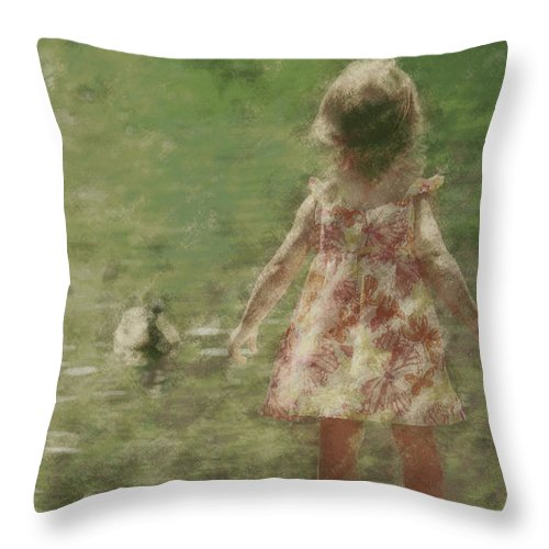 Throw Pillow featuring the photograph Laurel by The Art Of Marilyn Ridoutt-Greene