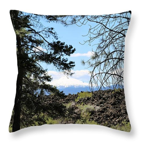 Lava Throw Pillow featuring the photograph Lava Mountain by Sandy Henderson