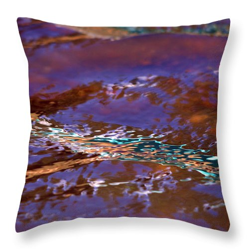 Water Throw Pillow featuring the photograph Lavender N Lace by Donna Blackhall