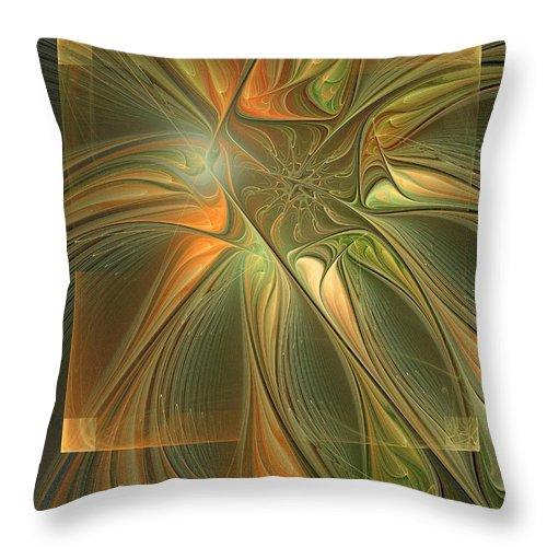 Digital Art Throw Pillow featuring the digital art Layers by Amanda Moore