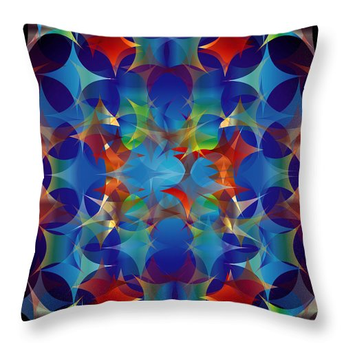 Color Throw Pillow featuring the digital art Layers Of Color 3 by George Pasini
