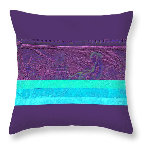 Luxembourg Garden Throw Pillow featuring the digital art Lazy Afternoon 2 by Marc Dettloff