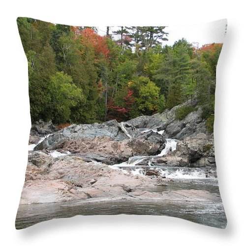 River Throw Pillow featuring the photograph Lazy River by Kelly Mezzapelle