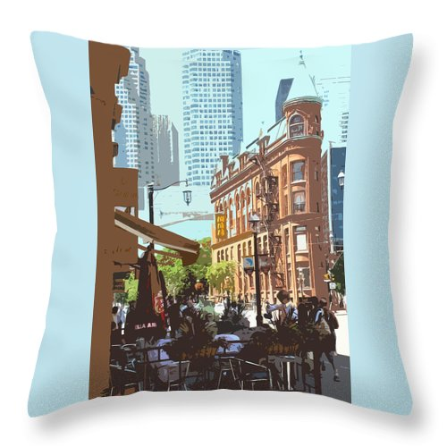 Castiron Building Throw Pillow featuring the photograph Lazy Summer Afternoon by Ian MacDonald
