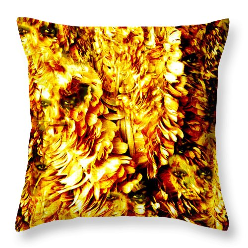 Feathers Throw Pillow featuring the digital art Le Flock by Seth Weaver