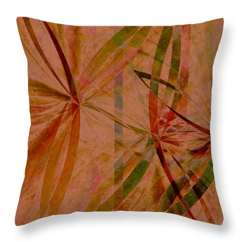 Abstract Throw Pillow featuring the digital art Leaf Dance by Ruth Palmer