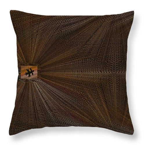 Leaf Throw Pillow featuring the digital art Leaf It Be by Tim Allen