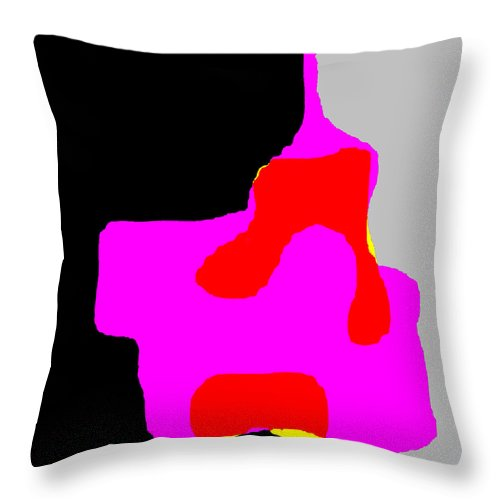 Square Throw Pillow featuring the digital art Leaking Duopoly by Eikoni Images