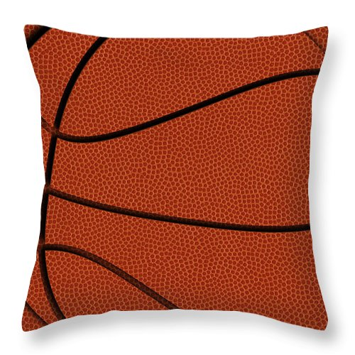 Basketball Throw Pillow featuring the photograph Leather Basketball Art by Joe Hamilton