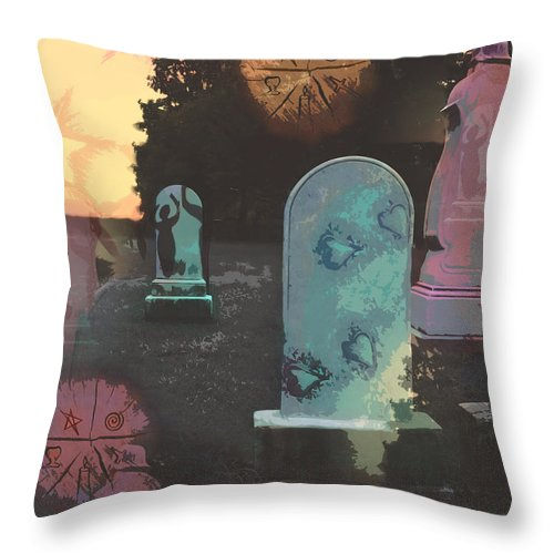 Fantasy Throw Pillow featuring the digital art Leave Behind The Anger by Cyndy DiBeneDitto