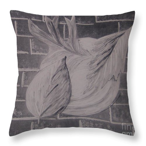 Leaves Throw Pillow featuring the painting Leaves by Emily Young