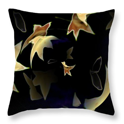Leaves Throw Pillow featuring the photograph Leaves by Tim Allen