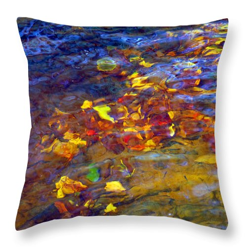 Water Throw Pillow featuring the photograph Leaves Underwater by Francesa Miller