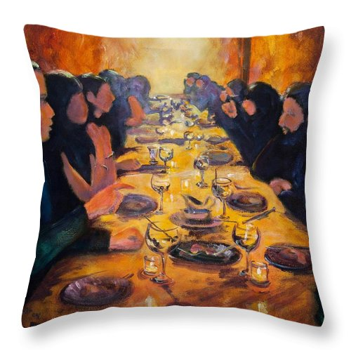 Food Throw Pillow featuring the painting Leftovers by Jason Reinhardt