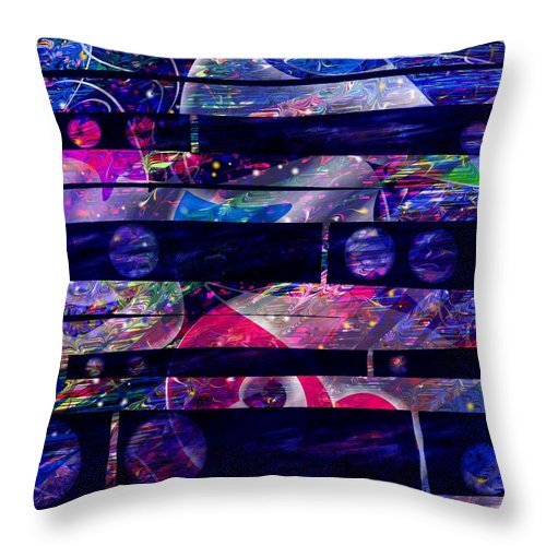 Abstract Throw Pillow featuring the digital art Leftovers by Rachel Christine Nowicki