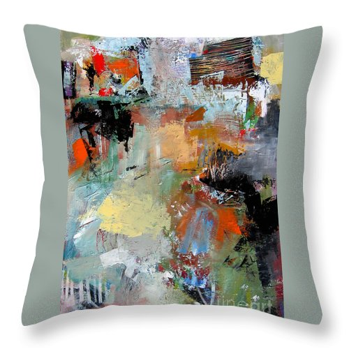 Modern Abstract Paintings Throw Pillow featuring the painting Legato by Diane Desrochers