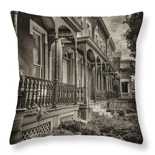 Leigh Street Throw Pillow featuring the photograph Leigh Street by Tim Wilson