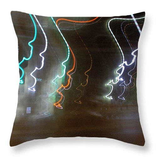 Photograph Throw Pillow featuring the photograph Lemon Street by Thomas Valentine