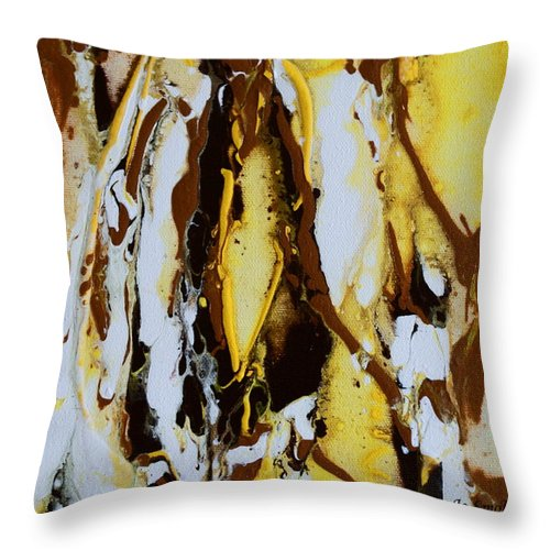 Lemons Ripples Figures Throw Pillow featuring the painting Lemon Twist by Joanne Smoley