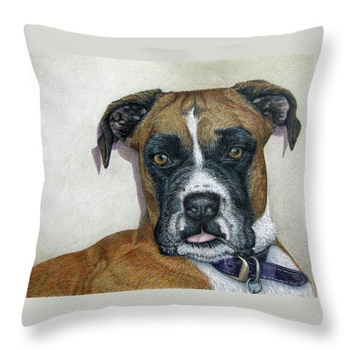 Fuqua - Artwork Throw Pillow featuring the drawing Lennox by Beverly Fuqua